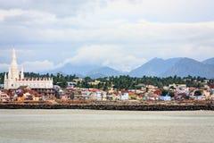 Kanyakumari-Stadt, Tamil Nadu Stockfotos
