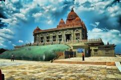 Kanyakumari Vivekanada tempel Royaltyfri Bild