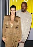 Kanye West και Kim Kardashian Στοκ φωτογραφία με δικαίωμα ελεύθερης χρήσης