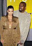 Kanye West e Kim Kardashian Fotografia Stock Libera da Diritti