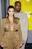 Kanye West en Kim Kardashian Royalty-vrije Stock Fotografie