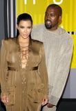 Kanye West and Kim Kardashian royalty free stock photo