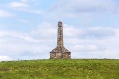 Kanza纪念碑,火石小山,堪萨斯 库存图片