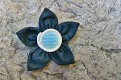 Kanzashi fabric flower Stock Images