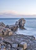 Kanzel-Felsen in Dorset Stockbild