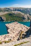 Kanzel-Felsen, Norwegen Stockfotos