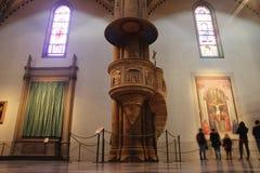 Kanzel in Santa Maria Novella, Florenz Stockfotografie