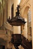 Kanzel, St. Etienne DU Mont Church, Paris Stockfotos