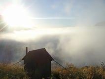 Kanzler-Hütte am Fox-Gletscher Neuseeland Stockbild