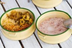 Kao chae, thai ris i isvatten Royaltyfri Bild