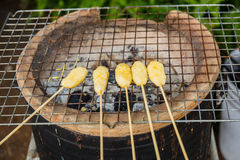 Kao ji is the grilled sticky rice Before it was grilled it was d Royalty Free Stock Image