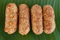 Kao-mao-tord десерт тайский Стоковое фото RF