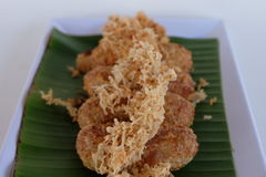 Kao-mao-tord Dessert tailandese Fotografia Stock