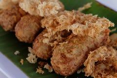 Kao-mao-tord Dessert tailandese Fotografia Stock Libera da Diritti