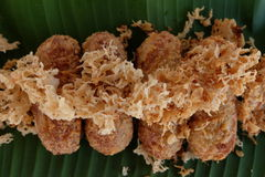 Kao-mao-tord Dessert tailandese Immagini Stock