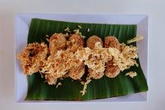 Kao-mao-tord en la hoja del plátano Imágenes de archivo libres de regalías