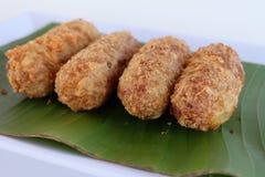 Kao-mao-tord Sobremesa tailandesa Fotos de Stock Royalty Free