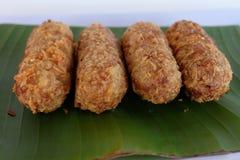 Kao-mao-tord. Thai dessert. Royalty Free Stock Photos