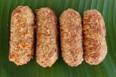 Kao-mao-tord. Thai dessert. Royalty Free Stock Photo