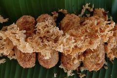 Kao-mao-tord. Thai dessert. Stock Images