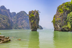 Kao Phing Kan island. In Krabi is famous for a scene from James Bond movie Stock Images