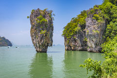 Kao Phing Kan island. In Krabi is famous for a scene from James Bond movie Stock Photo