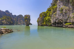 Kao Phing Kan island. In Krabi is famous for a scene from James Bond movie Royalty Free Stock Image