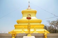Kao Plong寺庙, Wat Kao Plong, Chainat泰国 免版税库存图片