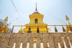 Kao Plong寺庙, Wat Kao Plong, Chainat泰国 免版税库存照片