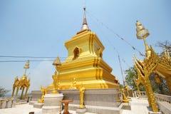 Kao Plong寺庙, Wat Kao Plong, Chainat泰国 免版税图库摄影