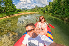 Kao Sok River Safari. Selfie in Thailand Stock Photography