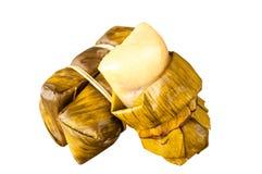 Kao Tom mud,Bananas. With Sticky Rice Stock Images