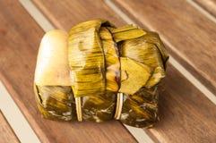 Kao Tom mud,Bananas with Sticky Rice Royalty Free Stock Photos