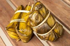 Kao Tom mud,Bananas with Sticky Rice Stock Image