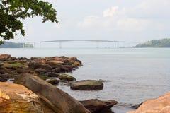 Kaoh Puoh most przy Sihanoukville, Kambodża Obraz Royalty Free