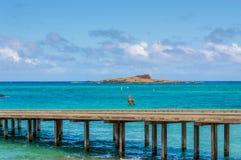 Kaohikaipu Island. Kaohikaipu is a protected bird sanctuary by the State of Hawaii.  It is located next to Rabbit Island, off of Makapuu Beach, Oahu, Hawaii Royalty Free Stock Photos