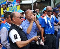 Kaohsiung borgmästare Candidate Han Guo-Yun arkivbild