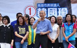 Kaohsiung Burgemeester Candidate Han Guo-Yun stock foto's