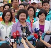 Kaohsiung Burgemeester Speaks bij het Openen van een Nieuwe Weg Royalty-vrije Stock Foto
