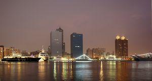 Kaohsiung City by Night Stock Photo