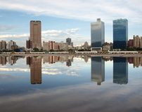 Kaohsiung City Waterfront. A view of the skyline of Kaohsiung with a beautiful reflection Stock Photos