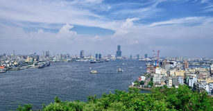 Kaohsiung Cityscape. Kaohsiung's skyline viewed from Kaohsiung Lighthouse in Cijin District Stock Photo