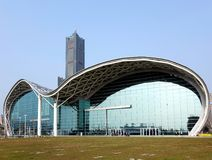 Kaohsiung Exhibition Center and Tuntex Tower Royalty Free Stock Photos