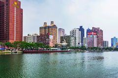 Kaohsiung financial district riverside buildings Royalty Free Stock Image