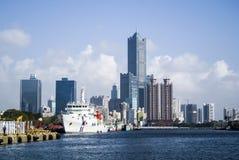 Kaohsiung hamn Royaltyfria Bilder