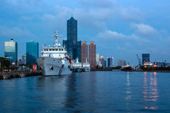 Kaohsiung Harbor dusk landscape Stock Photo