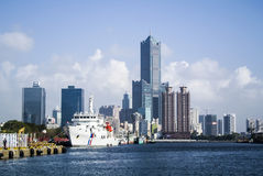 Kaohsiung Harbor. Is the largest harbor in Taiwan Royalty Free Stock Images