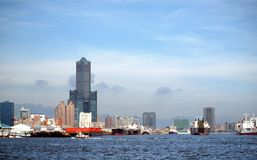 Kaohsiung Harbor in Taiwan Royalty Free Stock Photo