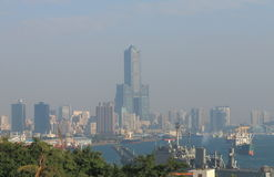 Kaohsiung i stadens centrum cityscape Kaohsiung Taiwan Royaltyfri Fotografi