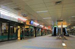 Kaohsiung lotniska międzynarodowego stacja metru Kaohsiung Tajwan obrazy royalty free